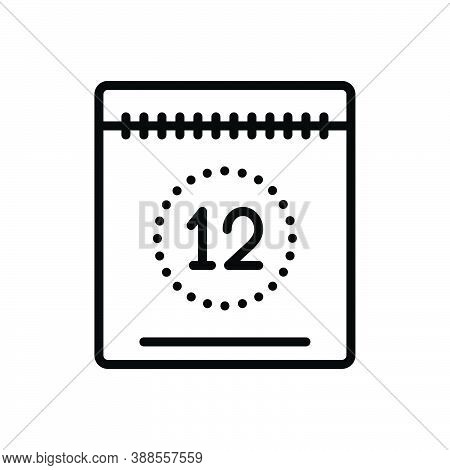 Black Line Icon For Today This-day Date Calendar Countdown Day Timetable Appointment Valuating