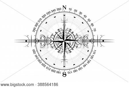 Magic Ancient Viking Art Deco, Wind Rose Magic Navigation Compass Ancient. The Vikings Compass Navig