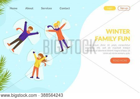 Winter Family Fun Landing Page Template, Winter Family Fun Landing Page Template, Winter Holidays We