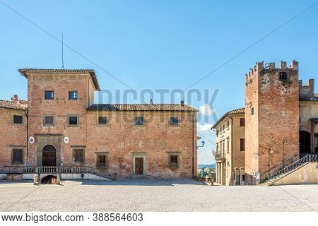 San Miniato,italy - September 6,2020 - At The Place Of Duomo In San Miniato.san Miniato Sits At An H