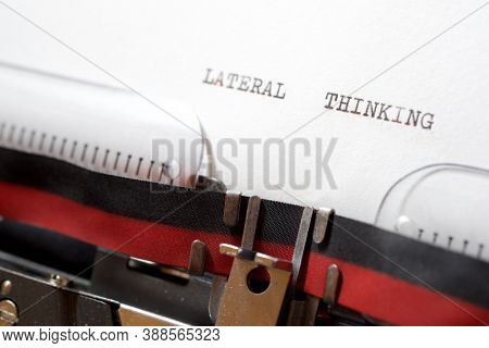 Lateral thinking phrase written with a typewriter.