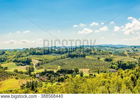 View To The Valley Near San Miniato Town In Italy