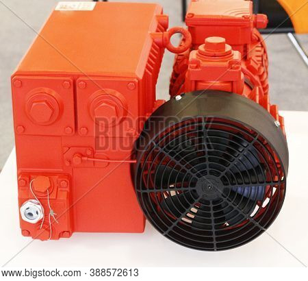 Electric Motor. Asynchronous Motor. Equipment For Filling Lines, Industrial Equipment For Factories.