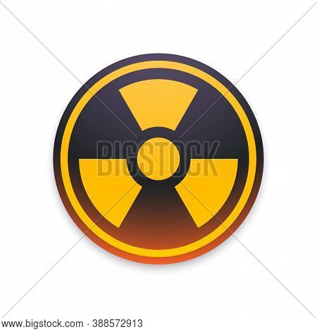 Black And Yellow Radiation Symbol Isolated On White Background, Nuclear Vector Illustration With Cli