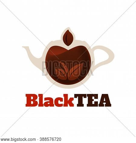 Black Tea Logo Template, Colorful Vector Graphic Design Element For Business, Hot Drink Company Bran