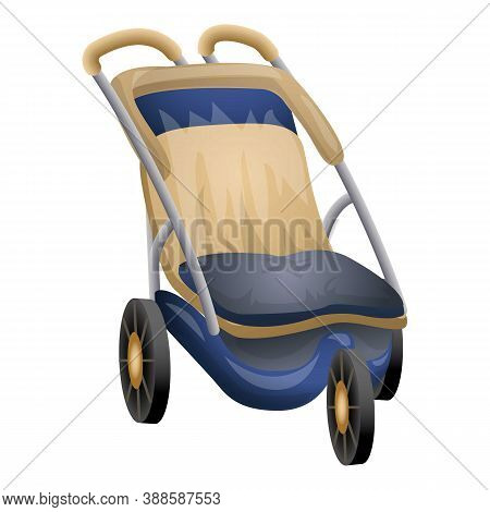 Baby Buggy Icon. Cartoon Of Baby Buggy Vector Icon For Web Design Isolated On White Background