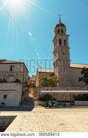 Church At Sutivan Town, Brac Island, Croatia.