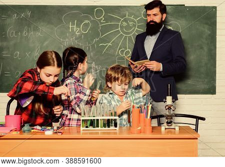 Club Include Variety Of Activities With Chemistry. School Club Education. Topic Of Our Club. Teacher