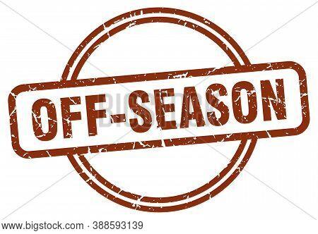 Off-season Grunge Stamp. Off-season Round Vintage Stamp
