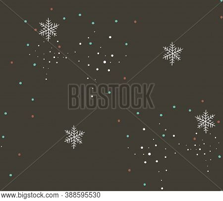 Hand Drawn Vector Abstract Stock Flat Merry Christmas, And Happy New Year Time Cartoon Festive Seaml
