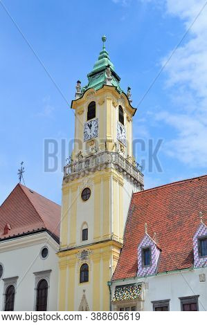 Old Town Hall In Bratislava In A Sunny Summer Day