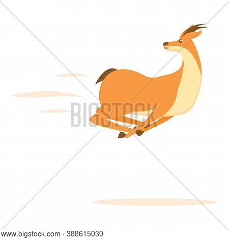 Fast Gazelle Icon. Cartoon Of Fast Gazelle Vector Icon For Web Design Isolated On White Background