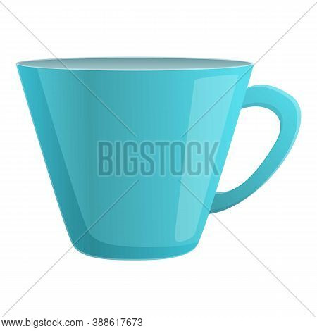Kitchen Mug Icon. Cartoon Of Kitchen Mug Vector Icon For Web Design Isolated On White Background