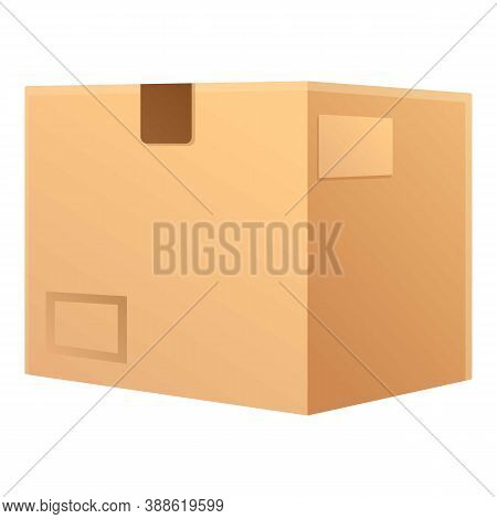 Postal Parcel Icon. Cartoon Of Postal Parcel Vector Icon For Web Design Isolated On White Background