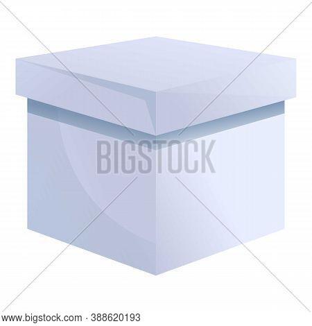 Carton Grey Box Icon. Cartoon Of Carton Grey Box Vector Icon For Web Design Isolated On White Backgr