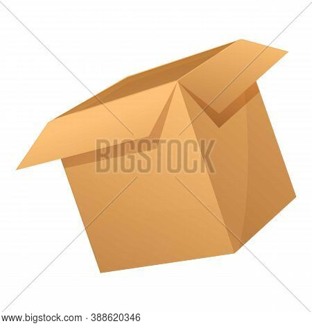 Export Parcel Box Icon. Cartoon Of Export Parcel Box Vector Icon For Web Design Isolated On White Ba