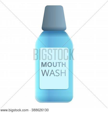 Mouthwash Bottle Icon. Cartoon Of Mouthwash Bottle Vector Icon For Web Design Isolated On White Back