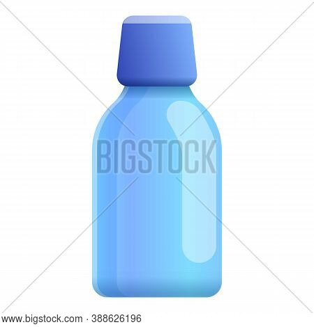 Mouthwash Dentist Bottle Icon. Cartoon Of Mouthwash Dentist Bottle Vector Icon For Web Design Isolat