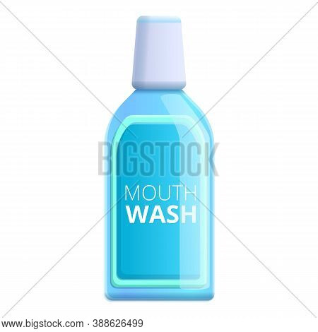 Cool Mouthwash Icon. Cartoon Of Cool Mouthwash Vector Icon For Web Design Isolated On White Backgrou