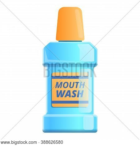 Product Mouthwash Icon. Cartoon Of Product Mouthwash Vector Icon For Web Design Isolated On White Ba