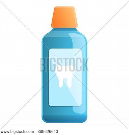 Smile Mouthwash Icon. Cartoon Of Smile Mouthwash Vector Icon For Web Design Isolated On White Backgr