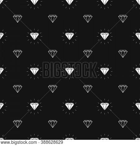 Vector Glamour Fashion Diamond Seamless Background. 10 Eps