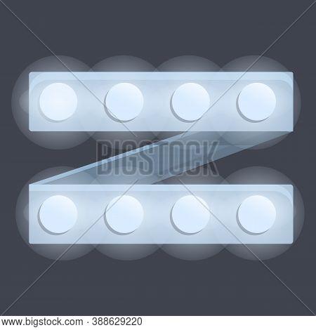 Bright Led Strip Lights Icon. Cartoon Of Bright Led Strip Lights Vector Icon For Web Design Isolated
