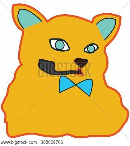 image of character fox with a pipe in his teeth in vector