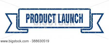 Product Launch Grunge Vintage Retro Band. Product Launch Ribbon