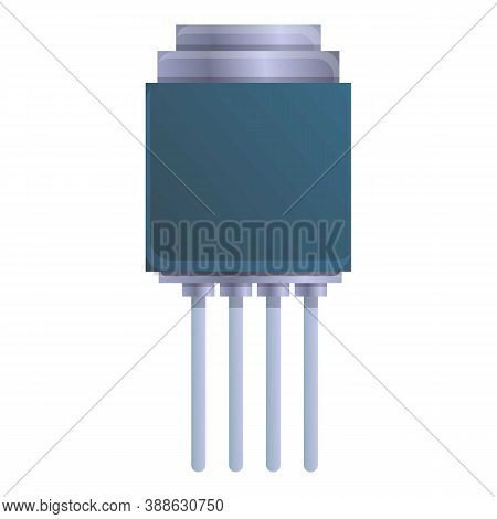 Transistor Capacitor Icon. Cartoon Of Transistor Capacitor Vector Icon For Web Design Isolated On Wh