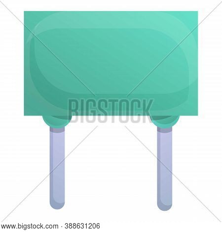 Internet Capacitor Icon. Cartoon Of Internet Capacitor Vector Icon For Web Design Isolated On White