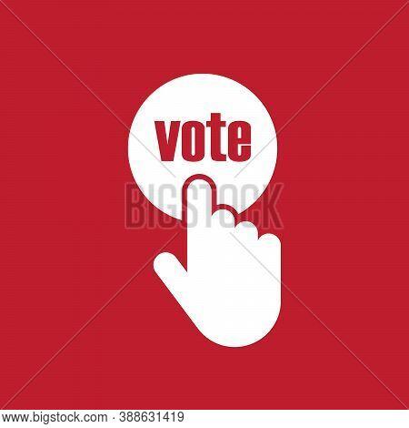 Vote Title Button, Votes Concept Vector Illustration. 10 Eps