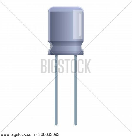 Steel Capacitor Icon. Cartoon Of Steel Capacitor Vector Icon For Web Design Isolated On White Backgr