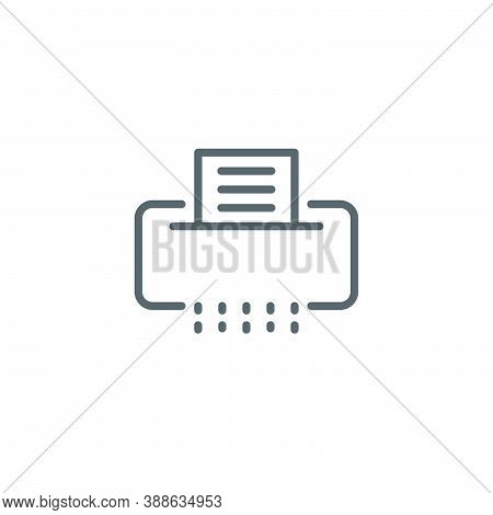 Paper Document Shredder Vector Icon Symbol Isolated On White Background