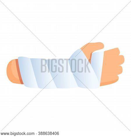 Hand Elastic Bandage Icon. Cartoon Of Hand Elastic Bandage Vector Icon For Web Design Isolated On Wh
