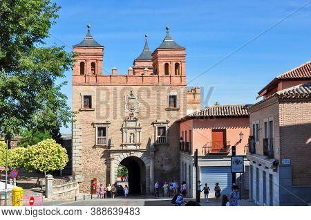 Toledo, Spain - June 2019: Bisagra Gates Of Toledo Old Town