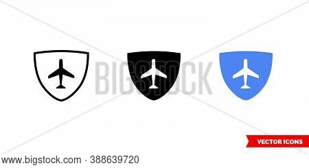Autopilot Icon Of 3 Types Color, Black And White, Outline. Isolated Vector Sign Symbol.
