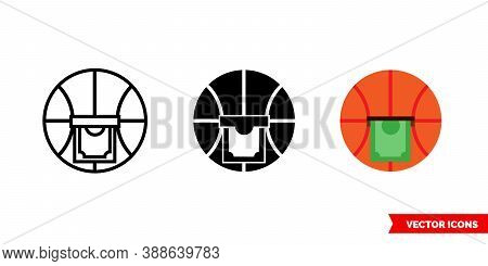 Bet On Sport Icon Of 3 Types Color, Black And White, Outline. Isolated Vector Sign Symbol.
