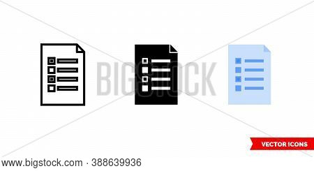 Brief Icon Of 3 Types Color, Black And White, Outline. Isolated Vector Sign Symbol.