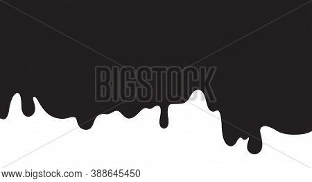 Slime Pattern. Abstract Slimed Background. Black And White Illustration