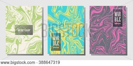Beautiful Marble Prints, Vector Cover Design Templates. Fluid Marble Stone Texture Iinteriors Fashio