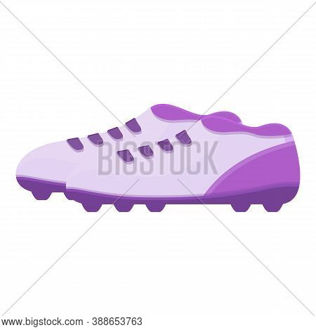 Studs Football Boots Icon. Cartoon Of Studs Football Boots Vector Icon For Web Design Isolated On Wh