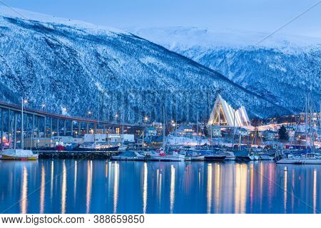 View on Tromso, Norway, Tromso At Winter Time, Norway