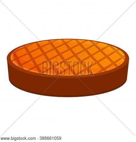 Autumn Party Pie Icon. Cartoon Of Autumn Party Pie Vector Icon For Web Design Isolated On White Back
