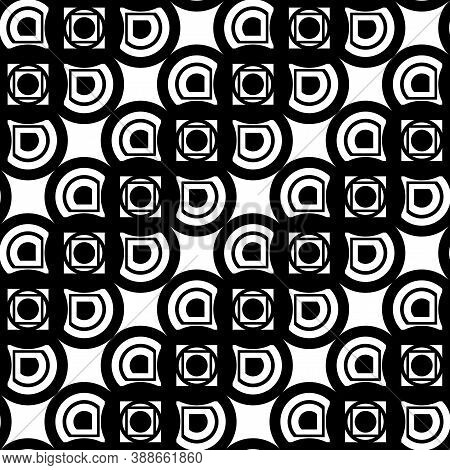 Design Seamless Monochrome Grating Zigzag Pattern. Abstract Background. Vector Art