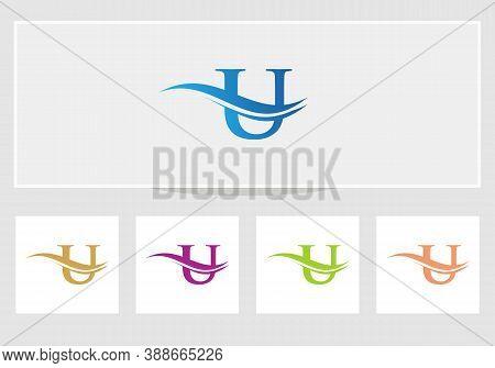 U Modern Creative Unique Elegant Minimal. U Initial Based Letter Icon Logo. U Logo Design