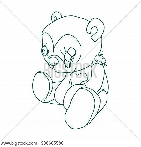 Teddy Bear Icon Isolated On White Background From Children Toys Collection. Teddy Bear Icon Trendy A