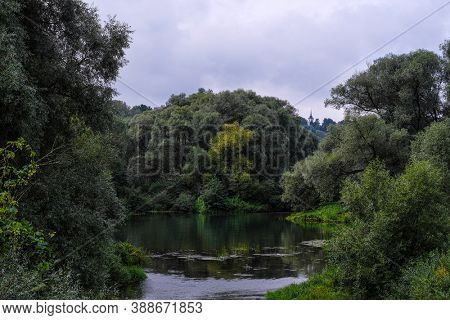 Landscape with the image of Seliger lake