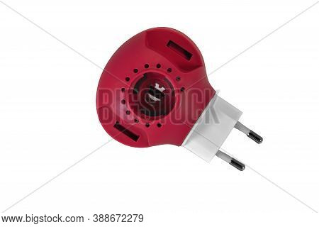 Electric Fumigator Isolate On A White Background Close-up.