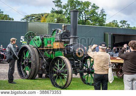Old Warden, Bedfordshire, Uk, October 6, 2019.1914 Clayton And Shuttleworth Steam Engine Dorothy